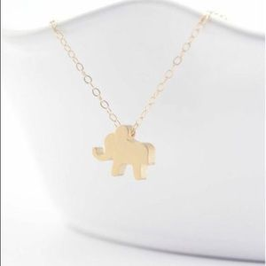 Olive Yew Jewelmint Lucky Gold Elephant necklace